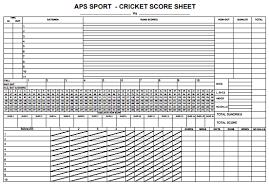 Cricket Score Chart Format Cricket Scorecard Excel Bismi Margarethaydon Com