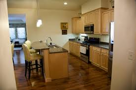 Kitchen Floor Lights Ivy Quad Galley Kitchen Maple Cabinets With Natural Finish