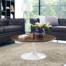 flower 36 round coffee table walnut