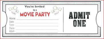 Movie Night Invitation Templates Expand Movie Night Template Birthday Party Invitation Premium Flyer