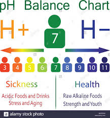 Ph Level Ballance Chart Scale Showing Sickness And Health In
