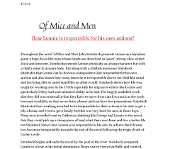of mice and men persuasive essay essay of mice and men of mice and men essay topics essay topics of mice and