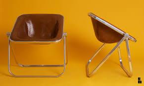 1969 giancarlo piretti castelli pair of plona cognac leather folding chairs