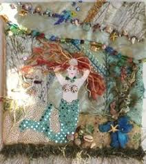 Funk This House | Artsy Cottage Funk with Patchwork Quilt Sets ... & Crazy quilt possibilities. Mermaid, shells, seaweed. C'mon, Adamdwight.com