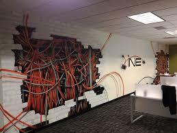 office graffiti wall. client ine seattle office interior graffiti wall