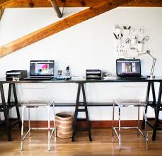 home office modern table. Modern Desk Organizer Home Office Contemporary With Drafting Tools Trestle Table. Image By: Jute Interior Design Table