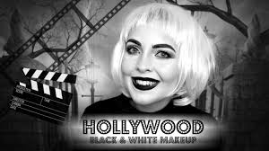 film noir black and white makeup tutorial old hollywood