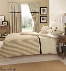 hachette 3pc valeria natural beige stripes king size bedding bed duvet cover quilt set with pillowcases co uk kitchen home