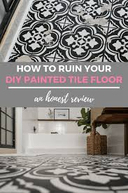 painting tile floors honest review