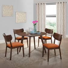 picket house furnishings. Rosie 5pc Dining Set With Chairs Walnut Brown/Orange - Picket House Furnishings