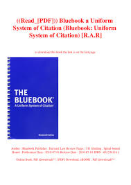 Readpdf Bluebook A Uniform System Of Citation Bluebook Unifor