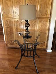 beautiful metal round table glass top furniture in turlock ca