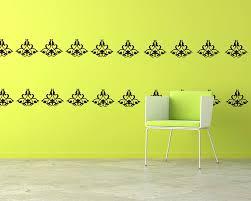 on damask sticker wall art with damask wall pattern decal modern vinyl art stickers