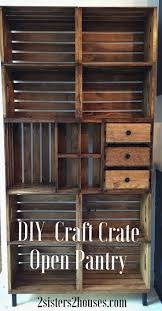 Shelves Made From Pallets Best 25 Crate Shelves Ideas On Pinterest Crates Bookshelf Diy