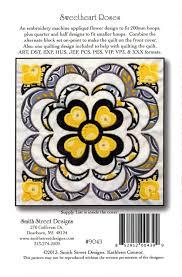Machine Applique Designs Sweetheart Roses Embroidery Machine Applique Design With Cd By Smith Street Designs