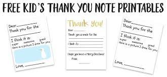 Free Printable Thank You Postcards Kids Thank You Card Printable The Happier Homemaker