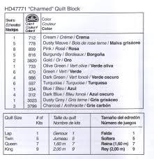 Plaid Bucilla Waverly Charmed Quilt Blocks 6