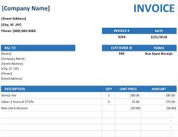 Monthly Invoice Template Rental Create Professional Invoices With