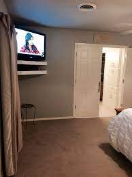 throughout bedroom tv wall mount