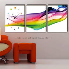 Small Picture modern art wall clock 30 large wall clocks that dont compromise