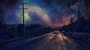 Road on Starry Night HD Wallpaper ...