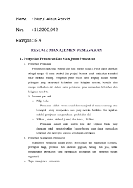 Contoh Tugas Resume Resume M Pemasaran 4