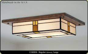 mission style ceiling light fixture