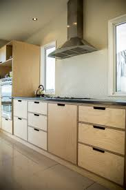 Kitchen Furnitures Crisp Simple And Modern Plywood Kitchen Oiled Birch Plywood And