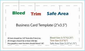 Vistaprint Business Card Sizes Vistaprint Business Card Size