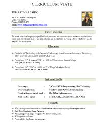 Job Resume For Freshers Sample Of A Cv Resume Resume Teacher