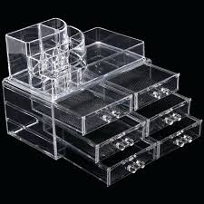 acrylic makeup organizers multi check and 6 drawers integrated acrylic makeup organizer large acrylic makeup