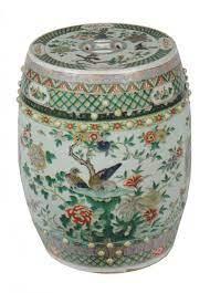 famille verte porcelain barrel seat