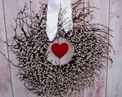 primitive valentine wreath spring wreath wedding by designingcreations