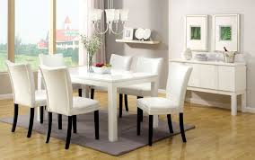 High Gloss Dining Table Furniture Of America Grangas White Gloss Dining Table Home