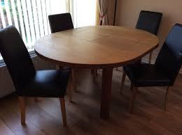 solid oak round extending dining table with 4 chairs in bangor county down gumtree