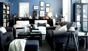 black and blue living room pictures