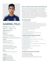 Resume Play Amazing 8317 Soccer Player Resume Sample Cv Example Tips 24 Ifest