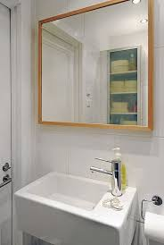 image of how to frame a bathroom mirror with molding
