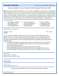 Free Executive Resume Templates Template Samples Senior Sales
