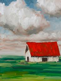 expressionist barn acrylic painting lesson