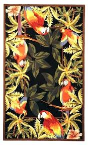 tropical area rugs. Tropical Rugs Hawaii Round Awesome Bay Isle Home Everglades Parrot Novelty Area Rug
