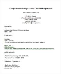 High School Student Resume First Job Resume Templates Free 12 Free High School Student Resume Examples