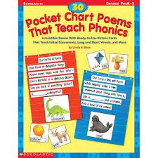 30 Pocket Chart Poems That Teach Gr Pk 2 Phonics