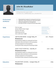 How To Make A Resume For Free Fascinating 48 Free Phlebotomy Resume Templates To Get You Noticed Now R I