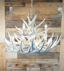 bone ivory white whitetail 15 cast cascade antler chandelier
