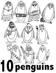 They are free and easy to print. Penguin Numbers 1 10 Preschool Kindergarten Free Coloring Pages Stevie Doodles