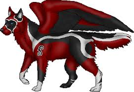 red and black wolf with wings. Beautiful Black Black And Red Winged Wolf  Photo24 Intended Red And Wolf With Wings I