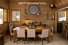 modern contemporary rustic dining room complete with rustic pendant lights decorated with glass flower vase and vintage table lamps