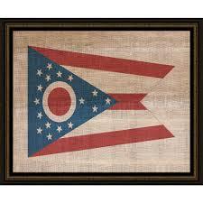 ohio state flag framed