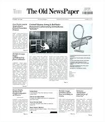 Newspaper Articles Template Newspaper Article Layout Sample Template Transactional
